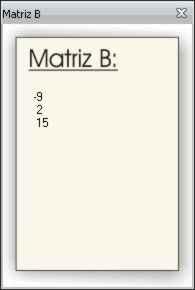 matriz b